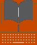 Orange Book with Keyboard