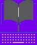 Purple book with Keyboard